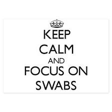 Keep Calm and focus on Swabs Invitations