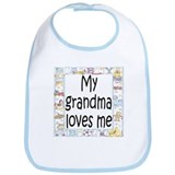 Grandma (Blue) loves me Bib
