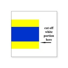 "Unique Sailing flag Square Sticker 3"" x 3"""