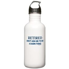 Retired Humor Water Bottle