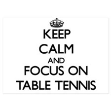 Keep Calm and focus on Table Tennis Invitations