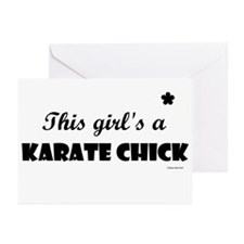 This Girl's A Karate Chick (Black Onyx) Greeting C
