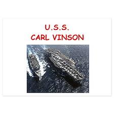 uss carl vinson 5x7 Flat Cards