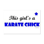This Girl's A Karate Chick (Clear Sky) Mini Poster
