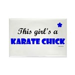 This Girl's A Karate Chick (Clear Sky) Rectangle M