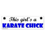 This Girl's A Karate Chick (Clear Sky) Sticker (Bu