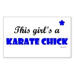 This Girl's A Karate Chick (Clear Sky) Sticker (Re