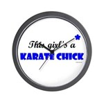 This Girl's A Karate Chick (Clear Sky) Wall Clock