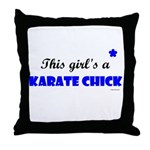 This Girl's A Karate Chick (Clear Sky) Throw Pillo