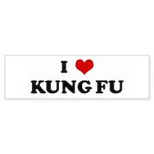 I Love KUNG FU Bumper Bumper Sticker