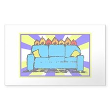 Burning Couch Rectangle Decal