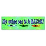 My Other Car is a Kayak Bumper Car Sticker