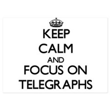 Keep Calm and focus on Telegraphs Invitations