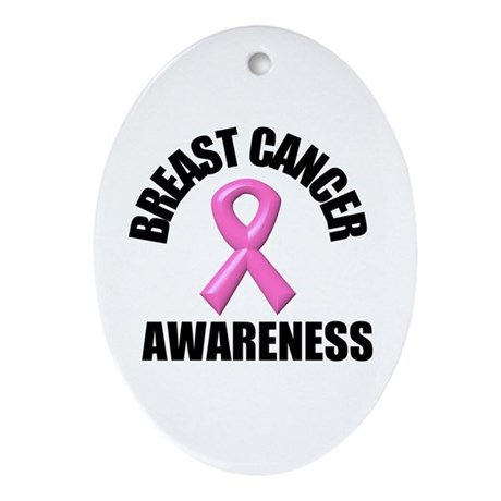 Breast Cancer Awareness Oval Ornament