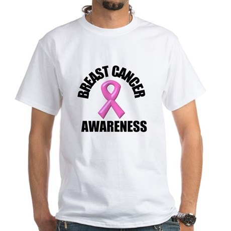 Breast Cancer Awareness White T-Shirt