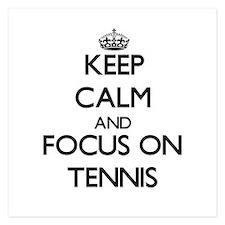 Keep Calm and focus on Tennis Invitations