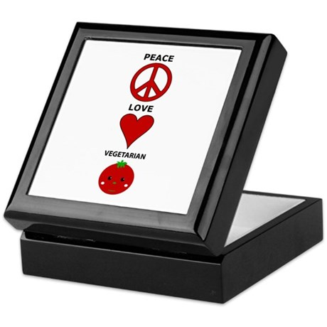 Peace Love Vegetarian Keepsake Box