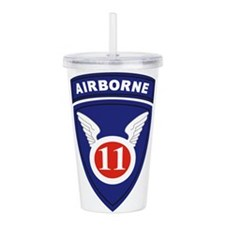 11th Airborne division Acrylic Double-wall Tumbler