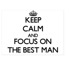 Keep Calm and focus on The Best Man Invitations