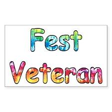 Fest Veteran Rectangle Decal
