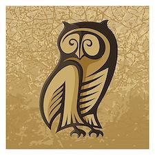 Owl Symbol Color Invitations