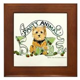Norwich Terrier Martini Framed Tile