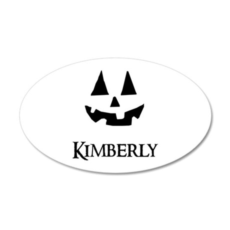 Kimberly Halloween Pumpkin face Wall Decal