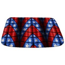 Superheroes - Red Blue White Stars Bathmat
