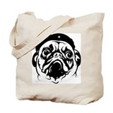 Pug Dog Revolutionary Icon- Tote Bag