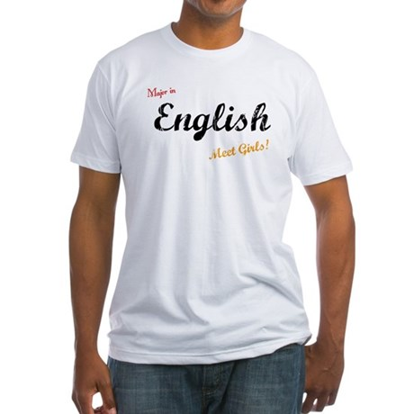 Major in English Fitted T-Shirt
