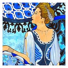 Blue Girl Invitations