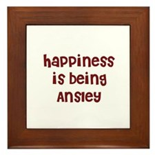 happiness is being Ansley Framed Tile