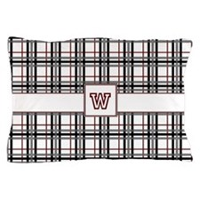 Black White and Red Plaid Pillow Case