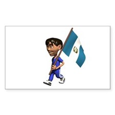 Guatemala Boy Rectangle Decal