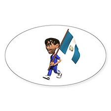 Guatemala Boy Oval Decal