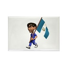 Guatemala Boy Rectangle Magnet