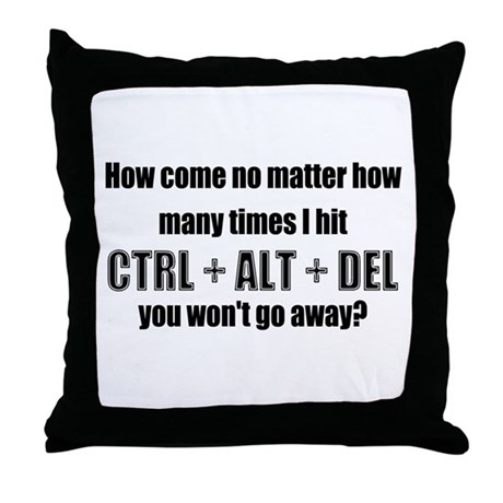 CTRL+ALT+DEL Throw Pillow