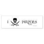 I Love Pirates Bumper Sticker