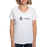 I Love Pirates Women's V-Neck T-Shirt