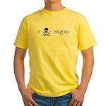 I Love Pirates Yellow T-Shirt