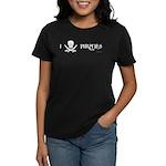 I Love Pirates Women's Dark T-Shirt