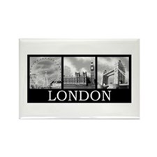 London gray Rectangle Magnet