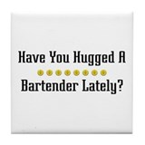 Hugged Bartender Tile Coaster