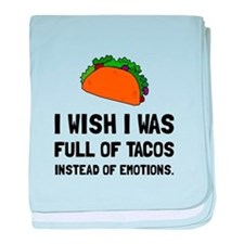 Tacos Emotions baby blanket