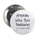 "African Wild Dog Doggy Style 2.25"" Button (10 pack"
