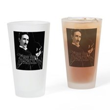Tesla ride the lightning Drinking Glass