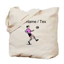 Custom Girl Soccer Player Tote Bag