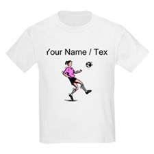 Custom Girl Soccer Player T-Shirt