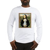 Mona Lisa &amp; Bedlington Terrier Long Sleeve T-Shirt