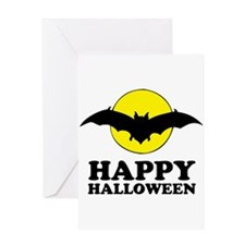 Happy Halloween bat Greeting Cards